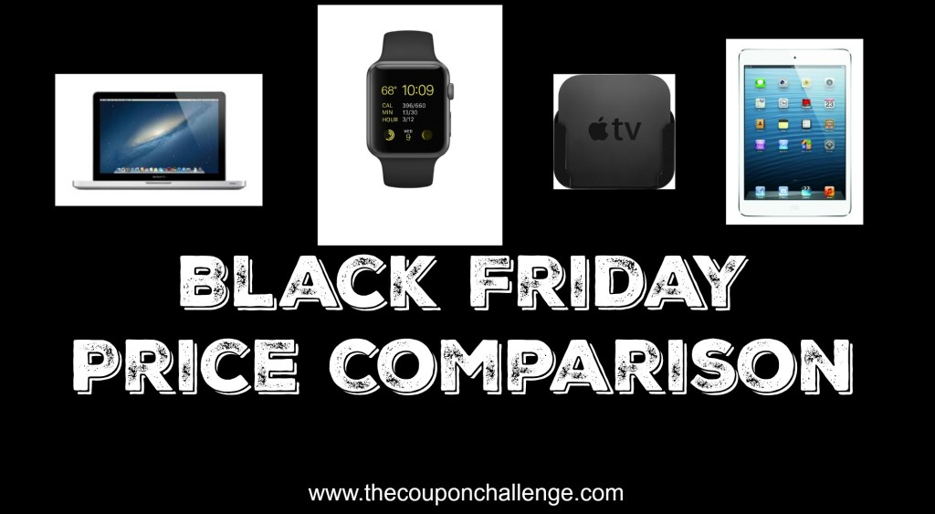 Apple Product Black Friday Price Comparison