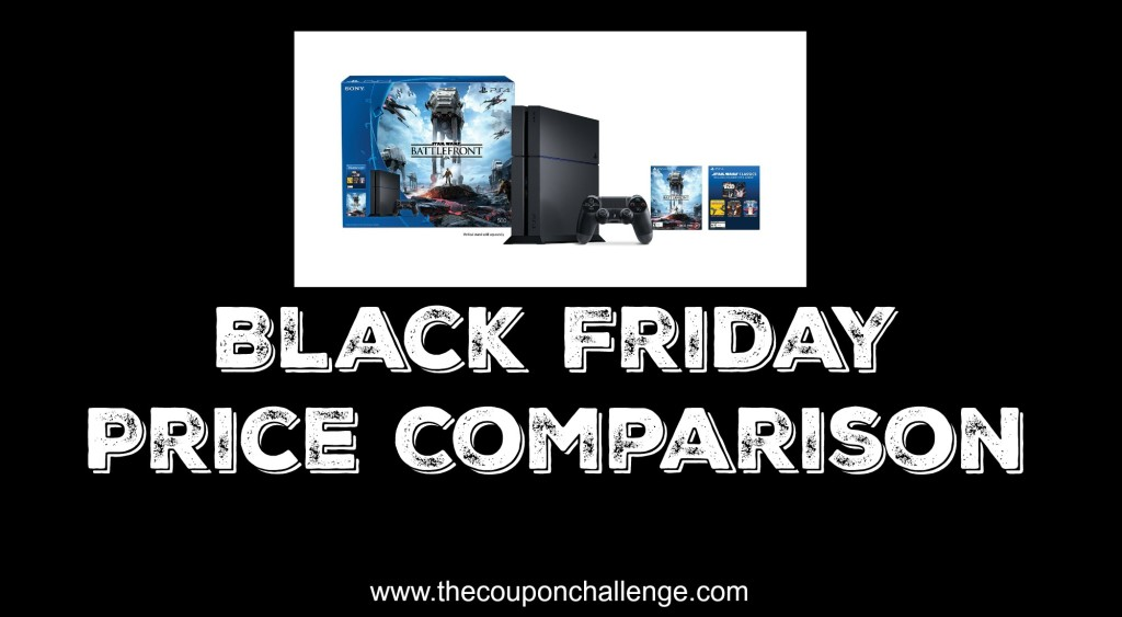 Playstation Black Friday Price Comparison