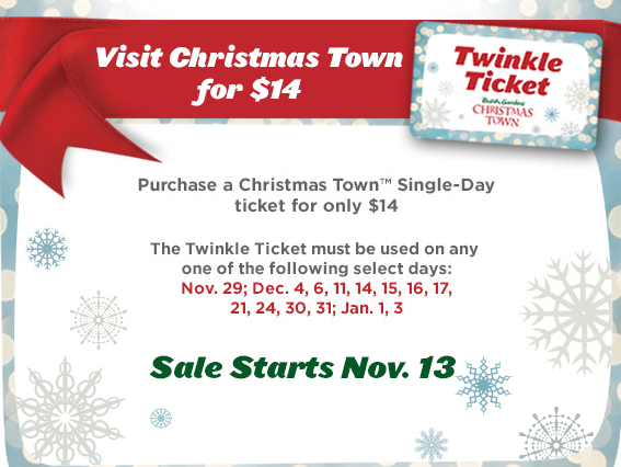 Busch Gardens Williamsburg Christmas Town Twinkle Ticket Discount