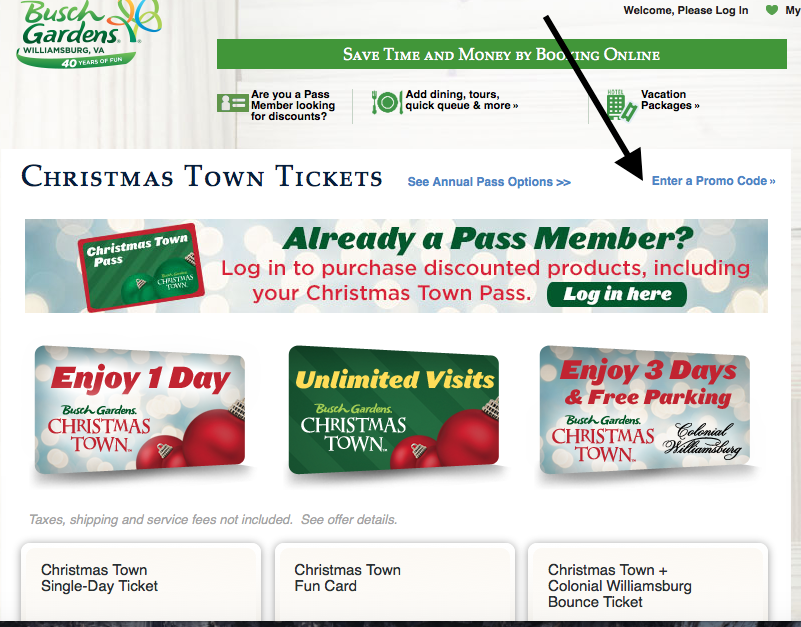 Holiday in the park discount coupons