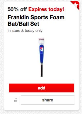Franklin Sports Foam Bat/Ball Set