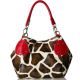 Giraffe Print Faux Leather Tote Shoulder Handbag