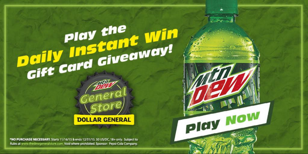 Mountain Dew Sweepstakes at Dollar General