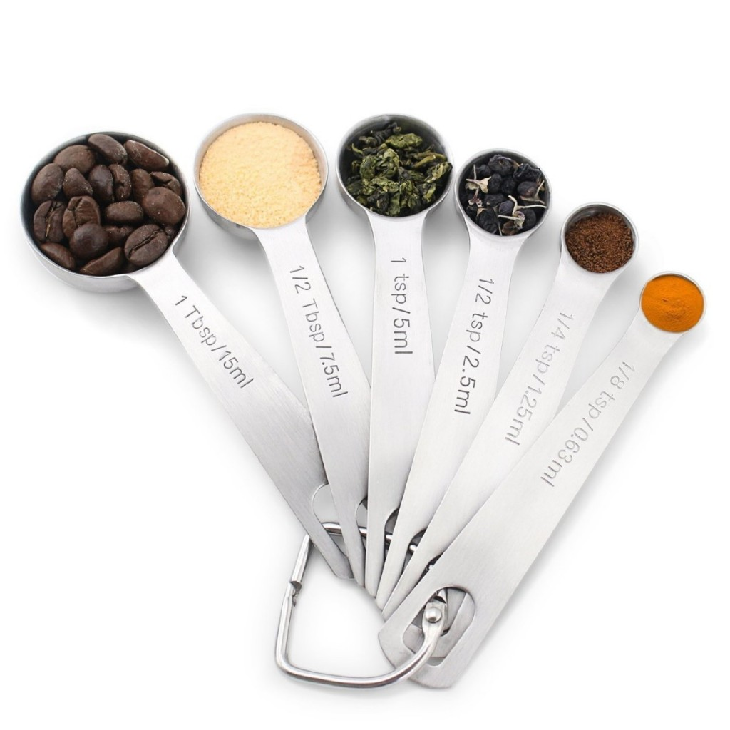1Easylife H742 Stainless Steel Measuring Spoons, Set of 6