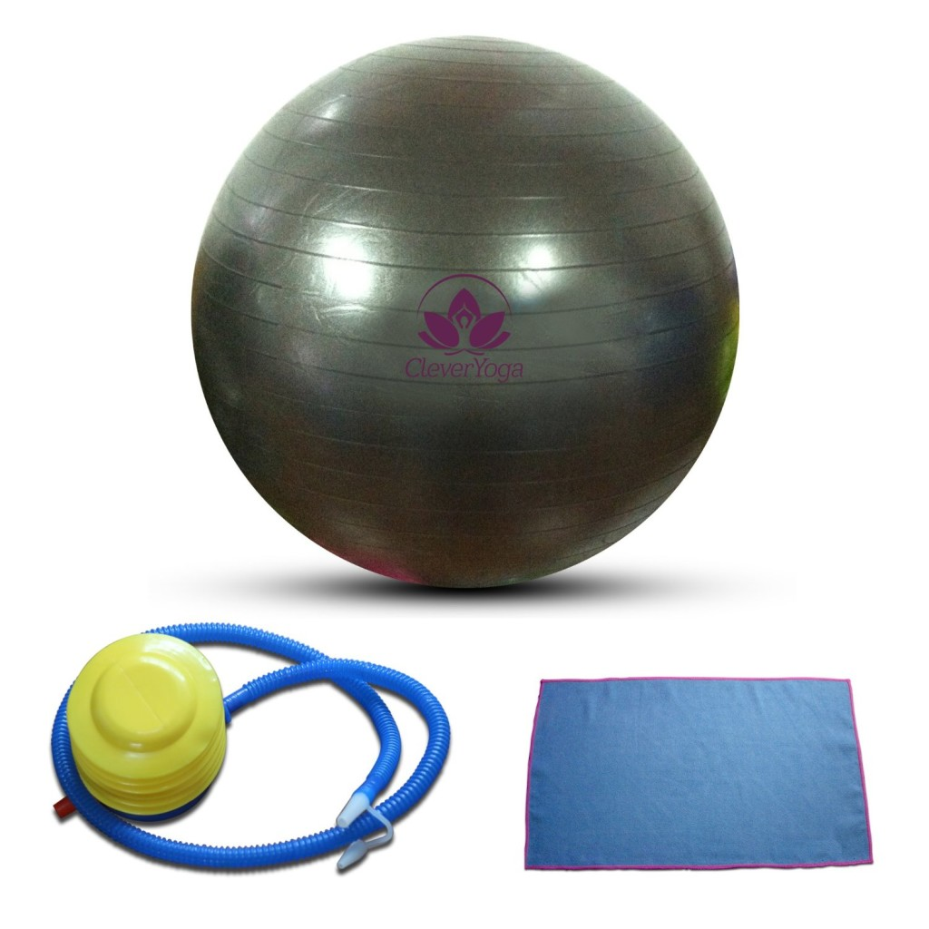 Amazon: Clever Yoga Exercise Ball With FREE Hand Towel And
