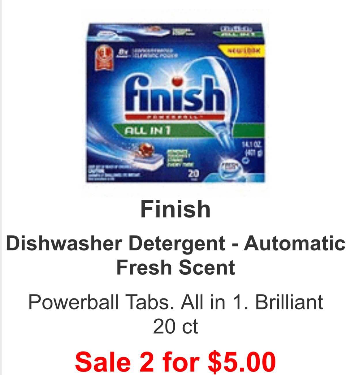 Finish dishwasher pods coupons
