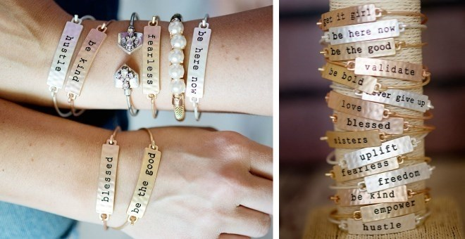 Stamped Bar Bracelets