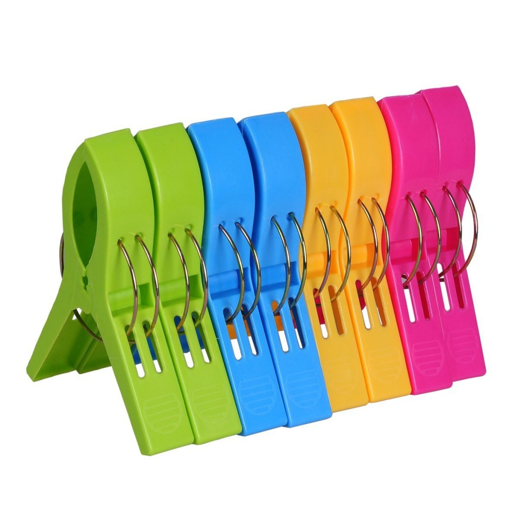 Bulk Beach Towel Clips: Amazon: 8 Pack Beach Towel Clips $9.99
