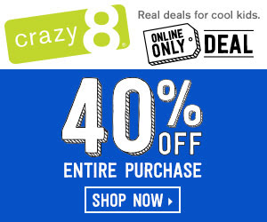 Crazy 8 40% Off sale