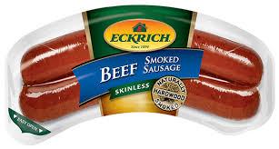Eckrich Skinless Beef sausage
