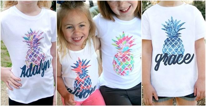 kids pineapple t
