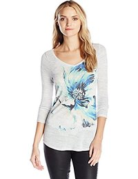 Lucky Brand Women's Painted Floral T-Shirt