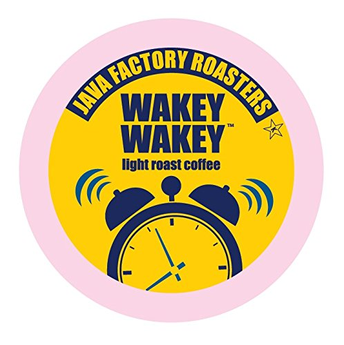 Java Factory Single Cup Coffee for Keurig K Cup Brewers, Wakey Wakey Light Roast, 24 Count