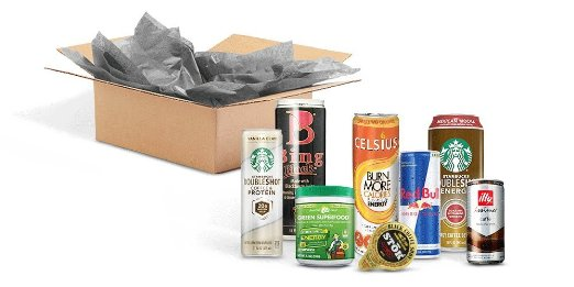 Energy Drink Sample Box, 7 or more samples