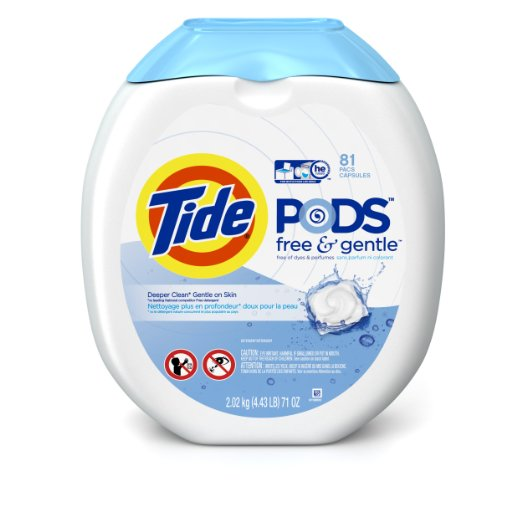 Tide PODS Free and Gentle Laundry Detergent Pacs