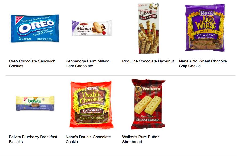 cookie sample options