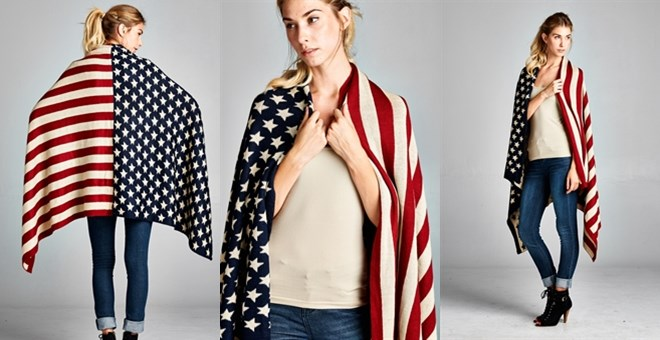 Patriotic American Flag Throw Wrapup