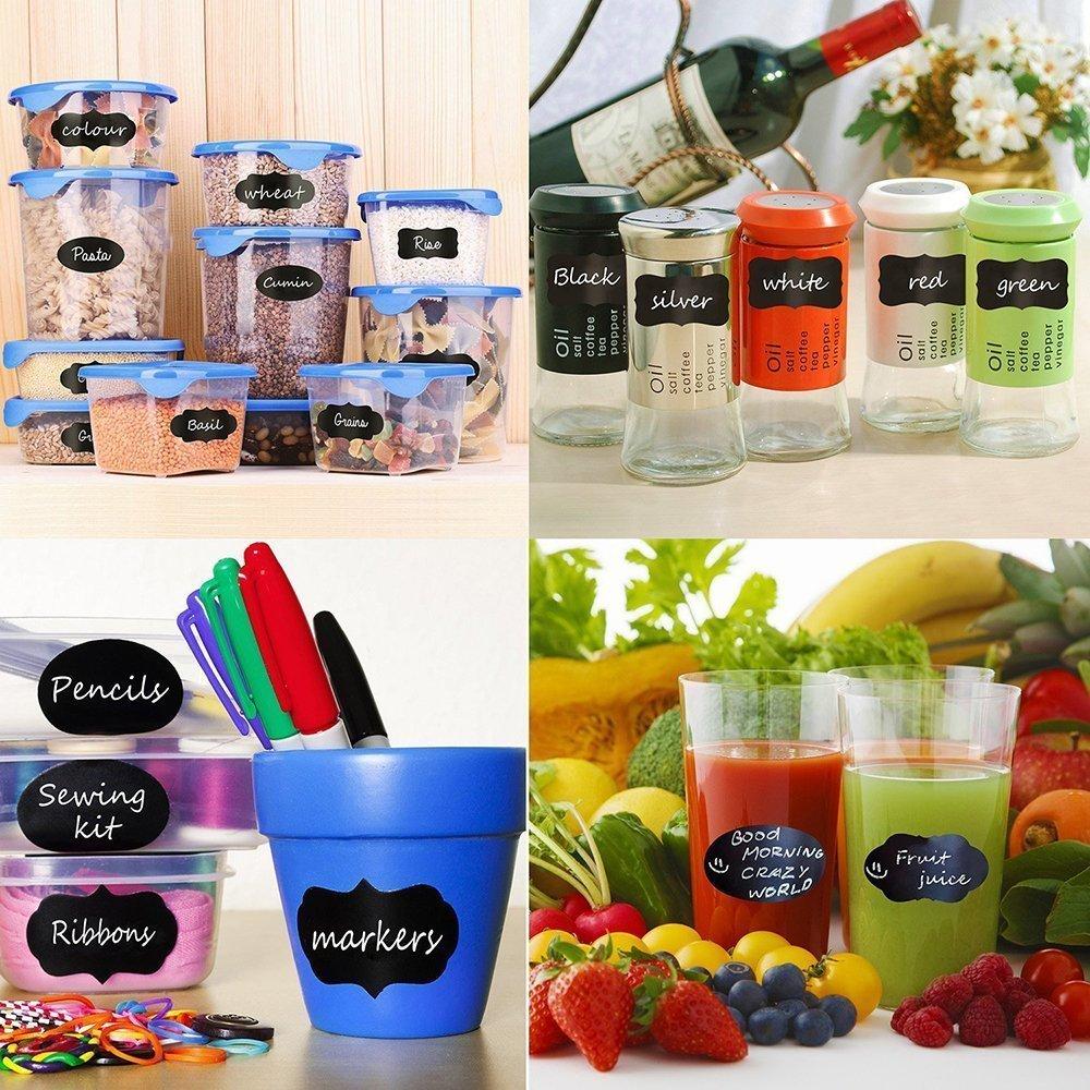 Chalkboard Labels - 80 Premium Stickers for Jars
