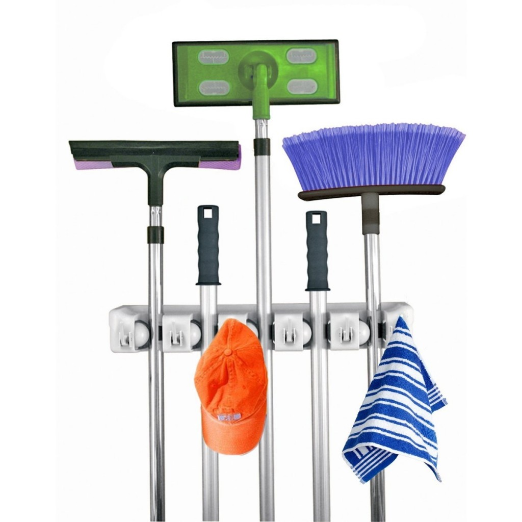 Mop and Broom Holder Wall Mount
