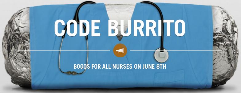 Chipotle Nurses Day Freebie