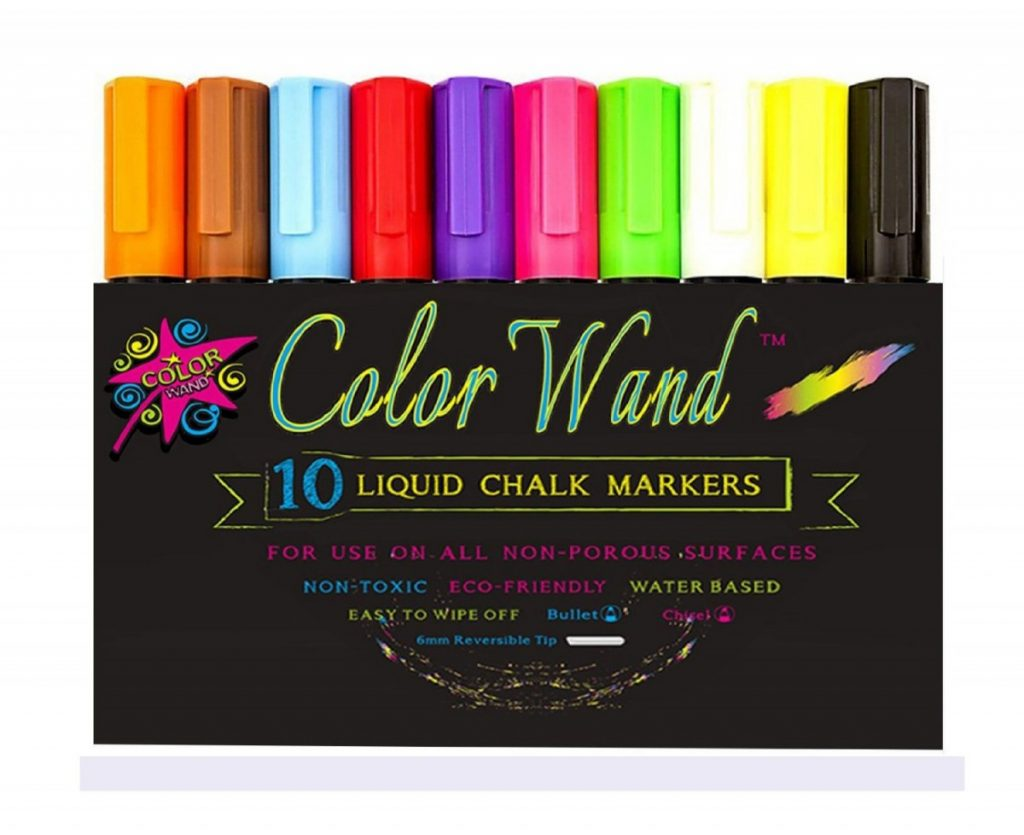 Color Wand Reversible Tip Liquid Chalk Markers
