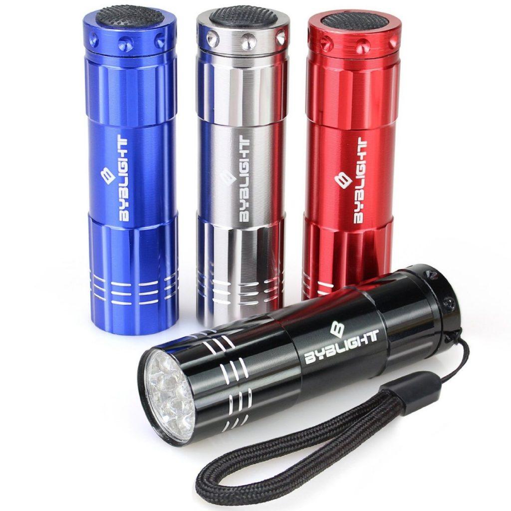Super Bright 9 LED Mini Aluminum Flashlight with Lanyard