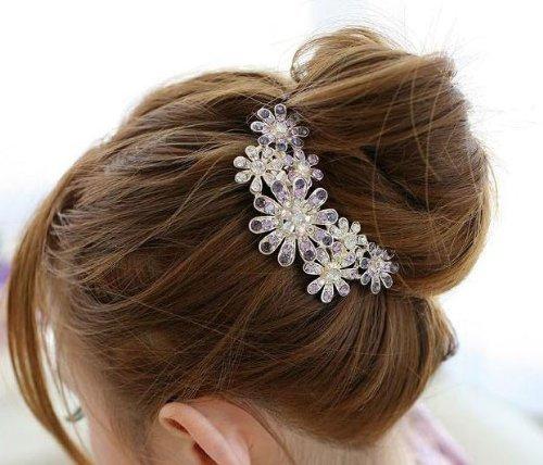 Flowers Crystal Hair Clips