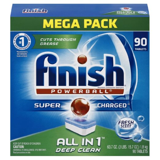 Finish All in 1 Powerball Mega Pack, 90 Tablets,