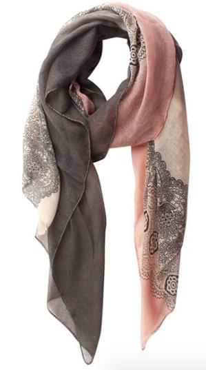 Lace Print Shawl Wrap