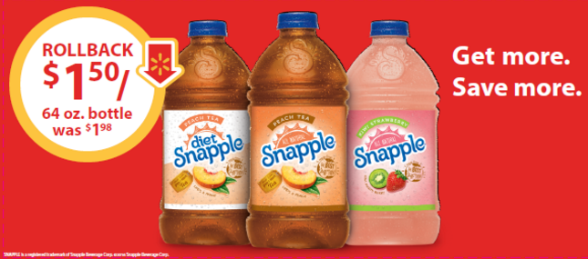 Snapple on Rollback at Walmart