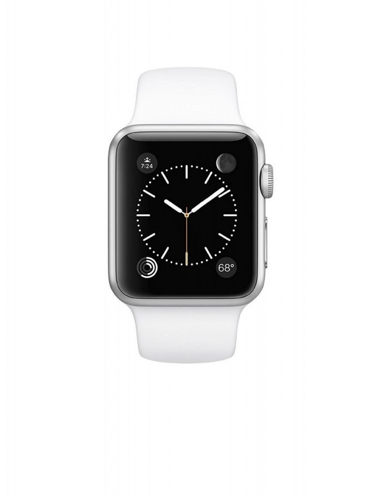 Apple Watch Sport 42mm Silver Aluminum Case with White Band (Certified Refurbished)