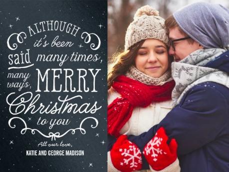 simple phrase christmas card