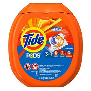 Tide PODS Original Scent HE Turbo Laundry Detergent Pacs 81-load Tub