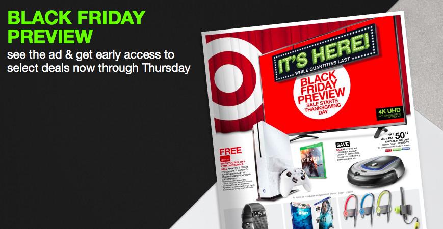 Target Black Friday Preview Deals