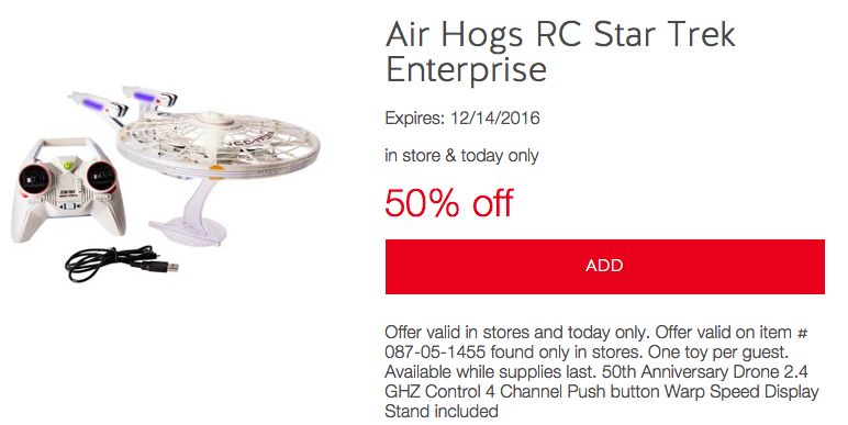 Air Hogs RC Star Trek Enterprise