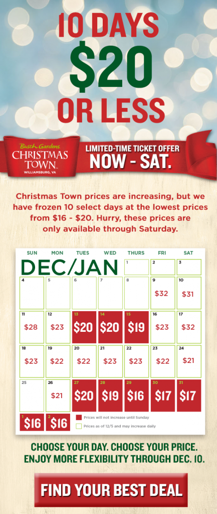 Christmas town savings