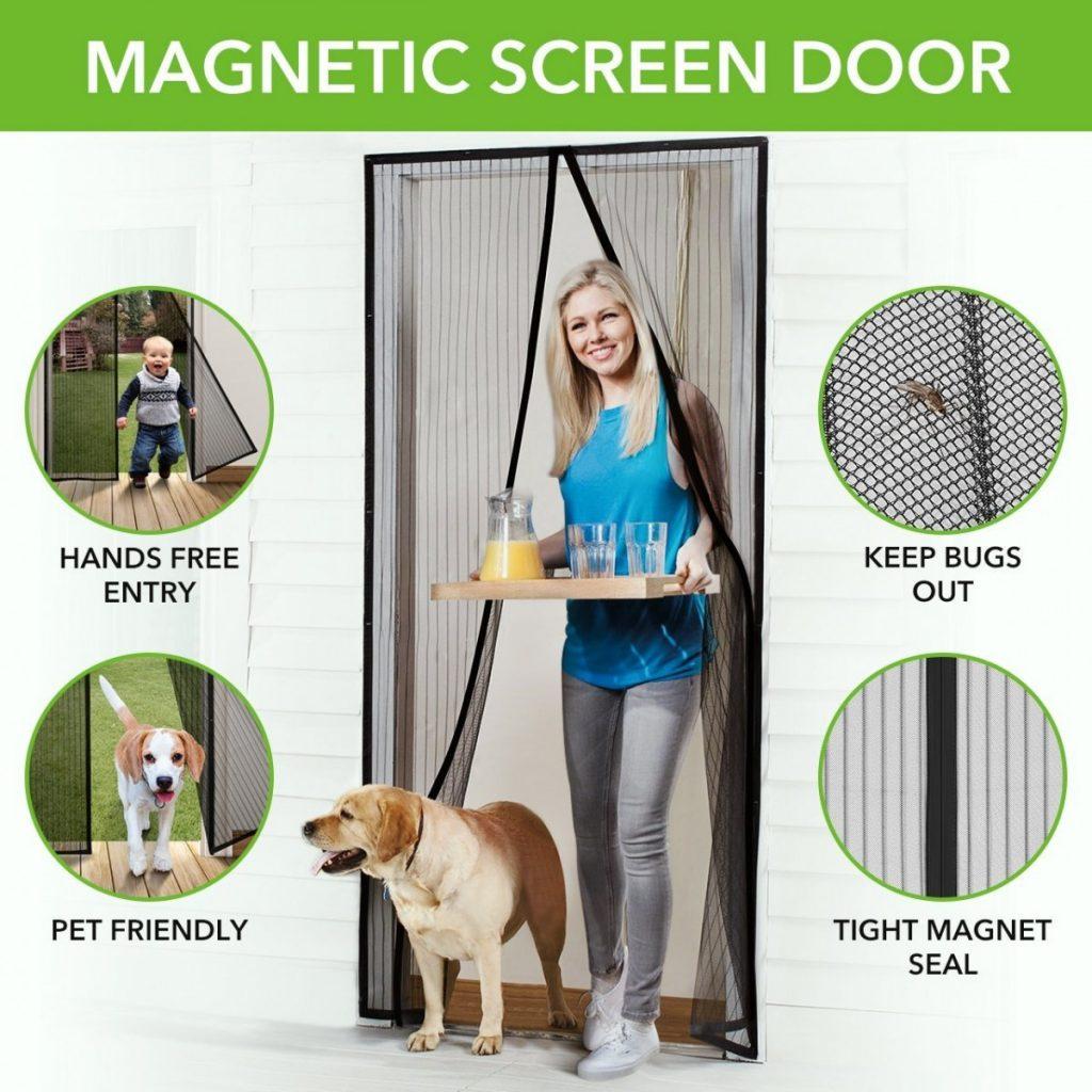 Amazon Homitt Magnetic Screen Door With Heavy Duty Mesh Curtain