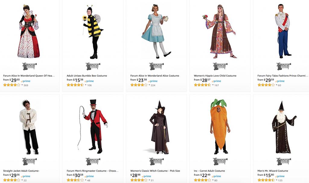 Amazon Prime Halloween Costumes.Amazon Men S And Women S Halloween Costumes Sale The Coupon Challenge