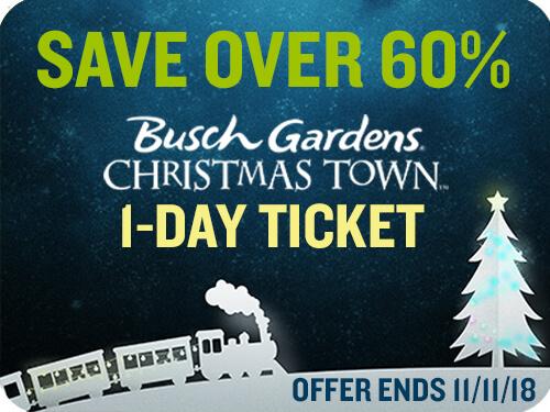 20 Busch Gardens Williamsburg Christmas Town Tickets Flash